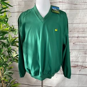 🌴MASTERS COLLECTION GREEN V-NECK PULLOVER NWT